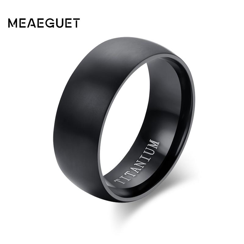 Men's Black Titanium Ring