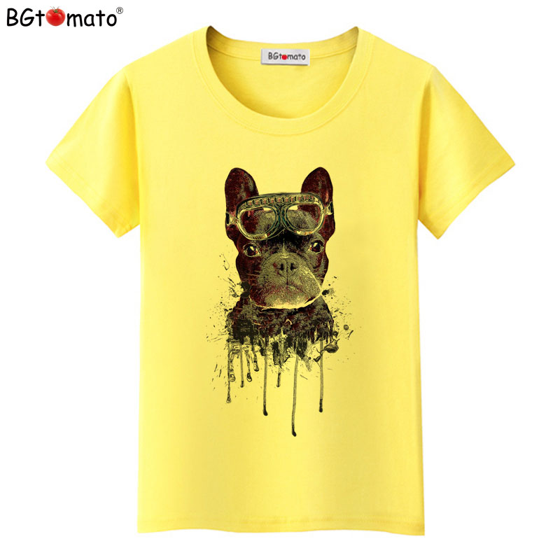 BGtomato T shirt Super cool dog funny t shirts Hot sale kawaii women tops Brand new good quality tshirt women