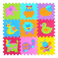 MQIAOHAM Cartoon Animal Pattern Carpet EVA Foam Puzzle Mats Kids Floor Puzzles Play Mat For Children Baby Play Gym Crawling Mats