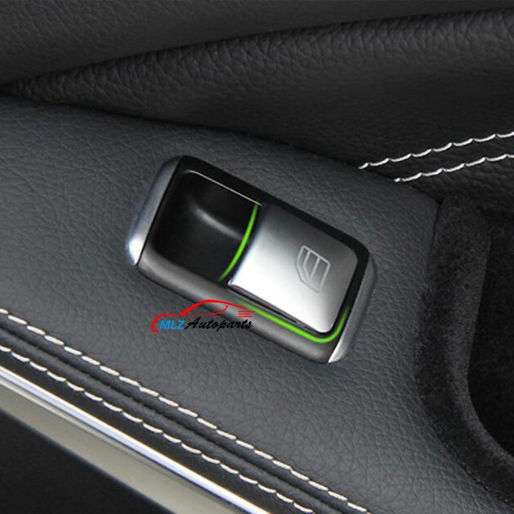 Door Armrest Window Glass Lifter Panel Button Switch Cover Trim Sticker For Mercedes Benz A B Class W246 W176 2012 - 2014 2015