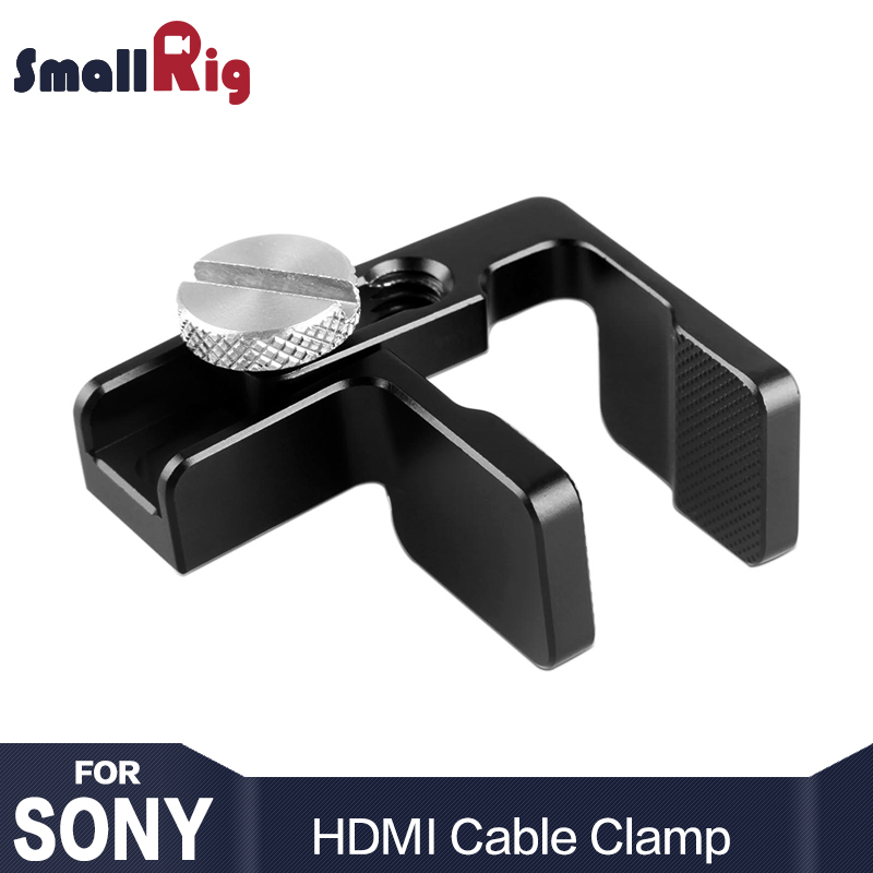 цена на SmallRig HDMI Cable Clamp for Sony A6500 A6300 A6000 camera SmallRig Cage 1661 / A7 A7S SmallRig Cage 1815 ect----1822