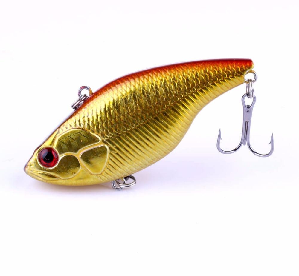 8pk Plastic VIB Fishing Lures Bionic Baits 7.5cm//18.6g Crank baits Tackle Hook