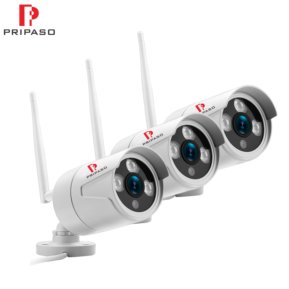 3 Pack 3.6mm Wide IP Camera 1080P 960P 720P Email Alert ONVIF P2P Motion Detection POE Surveillance CCTV Outdoor Wifi IP Camera