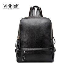 Vinniek рюкзак женщин кожа рюкзак школьные сумки для девочек-подростков винтажные ноутбук рюкзаки женские rugzak Путешествия Bagpack PU