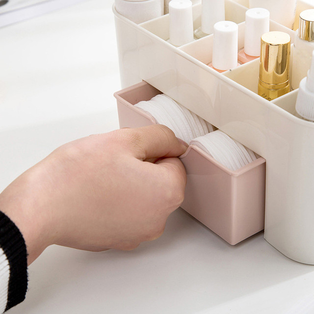 Fashion PP Home Decor Storage Of Cosmetics Saving Space Desktop Comestics Makeup Storage Drawer Type Box & Fashion PP Home Decor Storage Of Cosmetics Saving Space Desktop ...