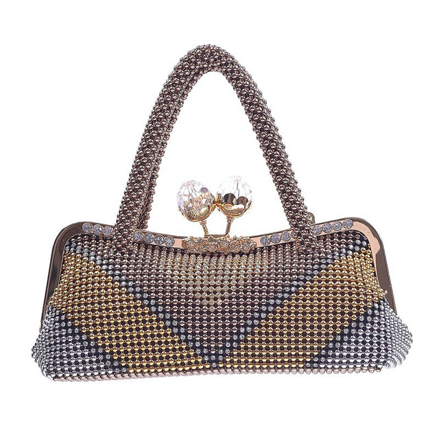 2017 Fashion Vintage Women Rhinestone Hand Bag Socialite Big Party Purse  Famous Brand Ladies Long Evening 03d2c1953a13