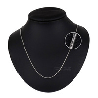 Solid 925 Sterling Silver Necklace Round Snake Chain Chocker Necklace With Cable Chain Extender Silver 925