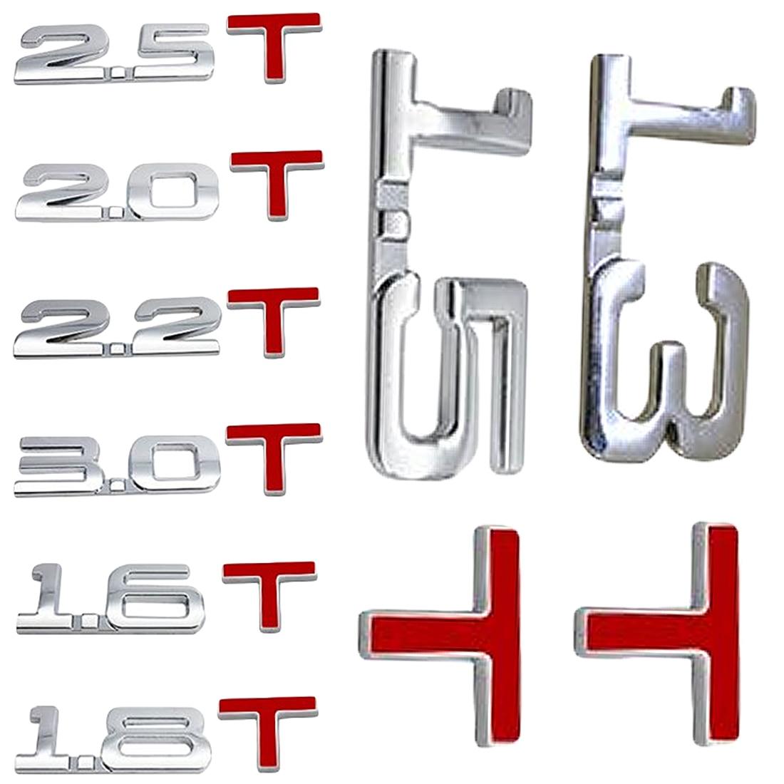 Декоративные аксессуары для автомобилей и мотоциклов, 1,3/1,5/1,6/1,8/2,0/2,2/2,5/3,0 т, знак смещения, значок, 3D-наклейки для автомобиля
