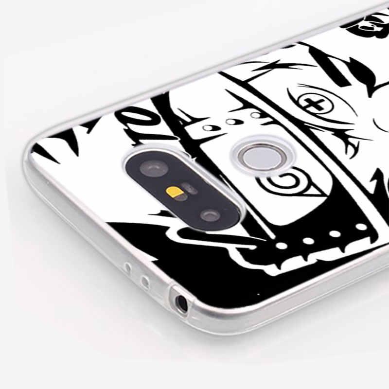 Silikon Weiche Telefon Fall Cartoon Skizze Naruto One Piece für LG K50 K40 Q8 Q7 Q6 V50 V40 V30 V20 g8 G7 G6 G5 ThinQ Mini Abdeckung