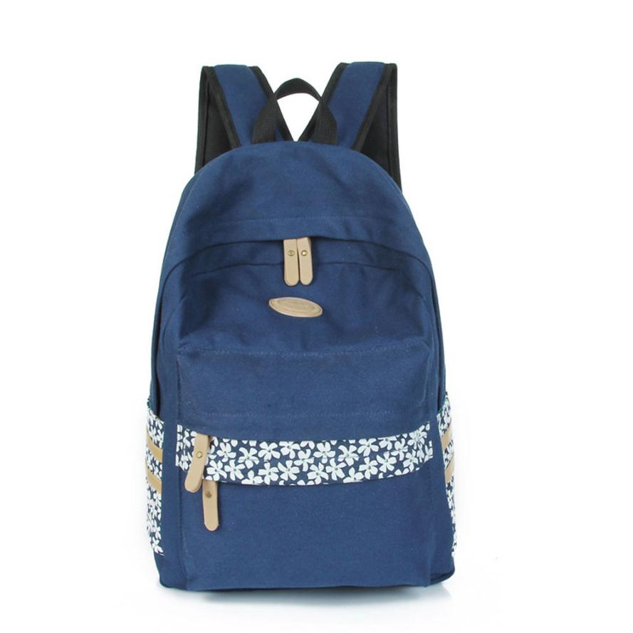 2016 New Women Backpack for School Teenagers Girls Vintage Stylish Ladies Bag Backpack Female Purple Flower Printing Top Quality