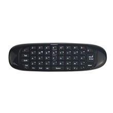 лучшая цена C120 2.4G air mouse Rechargeable Wireless remote control Keyboard for Android TV Box Computer Russian English Arabic Spanish