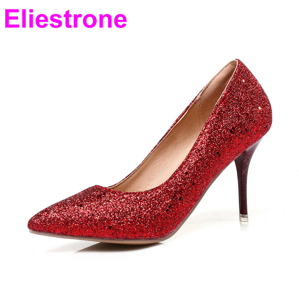 Women Glossy Pumps Sparkly