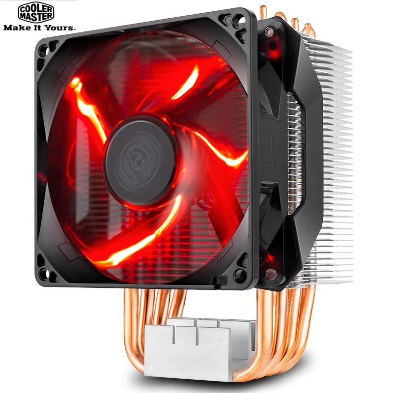 Refroidisseur Master T410R 4 caloduc refroidisseur de processeur pour LGA 1155 1156 AMD AM4 AM3 silencieux 92mm LED 4pin PWM ventilateur PC CPU ventilateur de radiateur de refroidissement