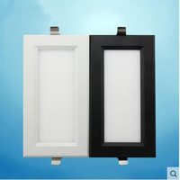 2pcs Double Super Bright Recessed Square LED Dimmable Downlight COB 15W LED Spot Light LED Decoration