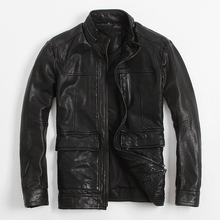 Men's Leather Jacket  Jacket Army Section