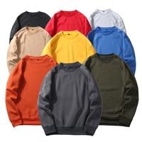 U S Size Spring Warm Fleece Sweatshirt Daily Mens Pullover Rich Fleece Long Sleeves Tops Men