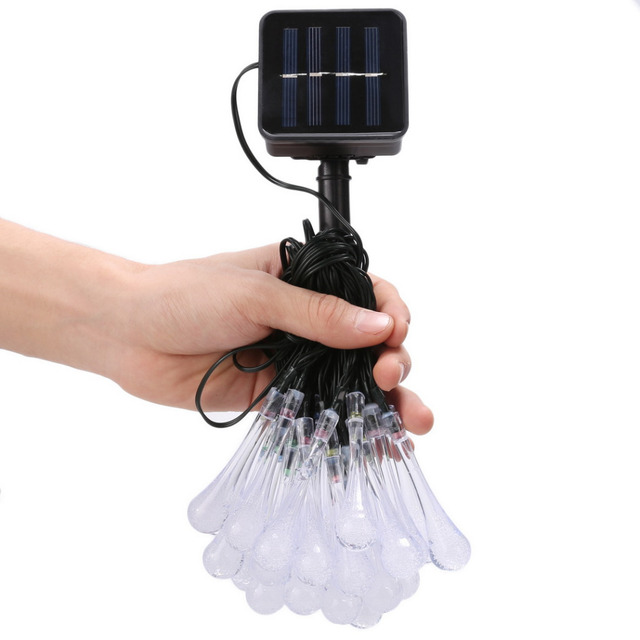 6M 30 LED String Waterproof Fairy Light Outdoor Holiday Light For Party Christmas Wedding Decoration Solar Powered
