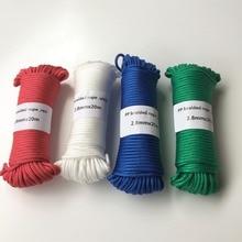 4 färger 2,8mmx20m flätad polypropen rep PP hängtagare kläder linje heminredning trädgård tillbehör utomhus camping rep