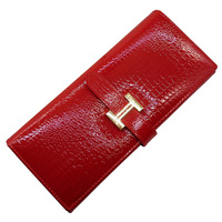 Guarantee Genuine Leather Wallet Women bag Red Luxury crocodile pattern cowhide wallet women business card holder coin purse