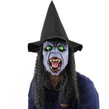 Horrible Witch Mask Cosplay Costume Halloween For Adult Wizard Props