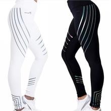 2019 Women  Fitness Yoga Sports Laser Leggings For Tight Mesh Pants Running Tights