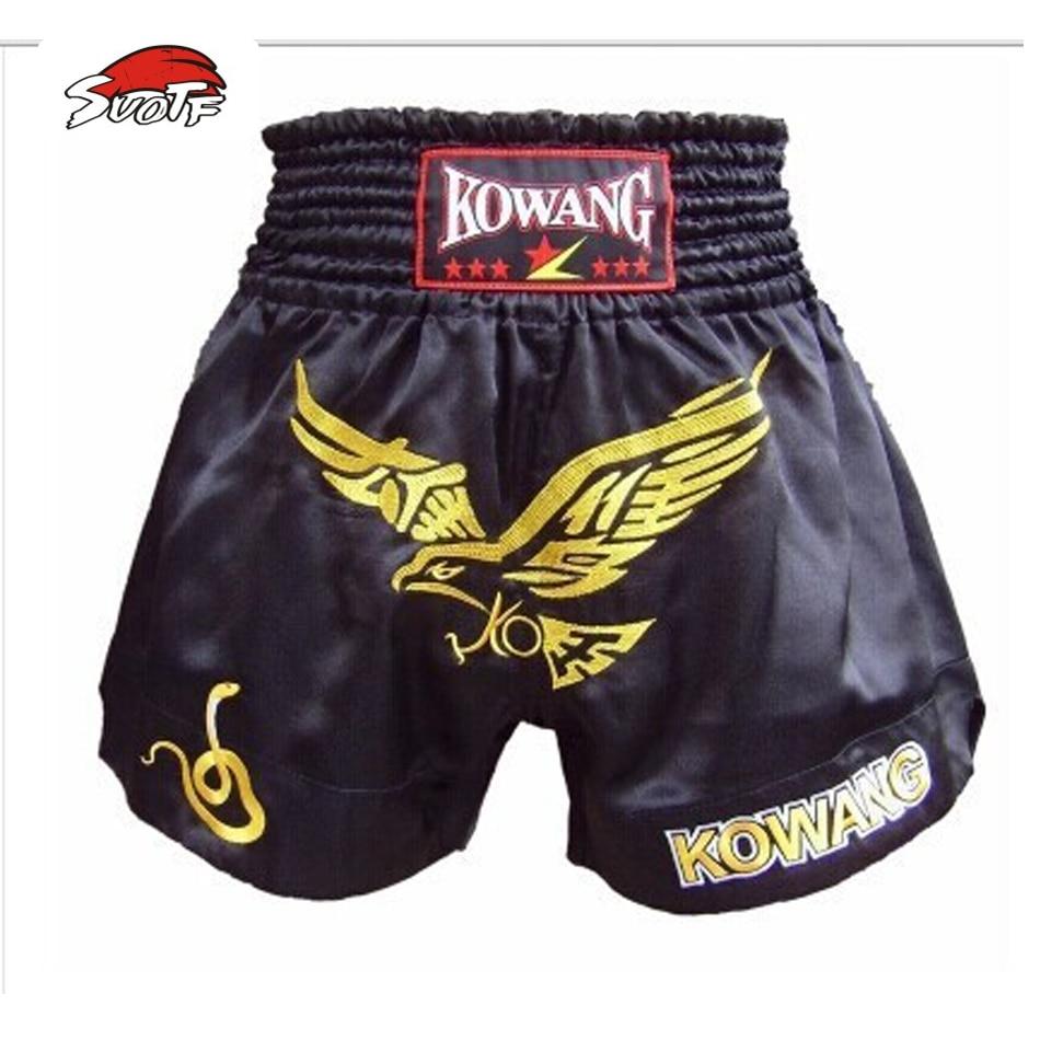 Prix pour SUOTF Haute qualité MMA Muay Thai short de boxe homme muay thai shorts/shorts De Boxe/sanda Shorts Muay thai pantalon livraison gratuite