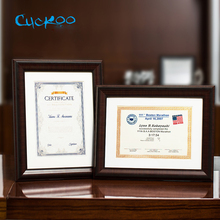 Classic minimalist 210*297mm A4 poster frame for wall hanging wooden photo certificate authorization multi-function
