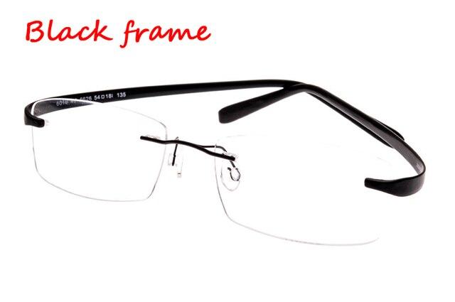 Очки без оправы памяти титановые гибкие мужские очки очки рецепт зрелище оптический кадров TR90 супер-упругие ноги