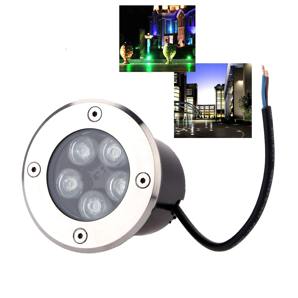 Led Underground Lamps Practical 10pcs Free Shipping Ip65 Led Underground Lights 1w-5w Warm White Green Yellow Blue Color Led Under Ground Light For Garden Attractive And Durable