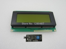 Free shipping ! 5pcs/lot LCD module Yellow and green screen IIC/I2C 2004 5V 20X4 LCD board provides library files for arduino