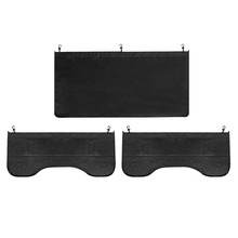 3Pcs Car Fender Covers Cover Bonnet Paint Auto Repair Tool PU leather Protect Paintwork Magnetic Wing Black