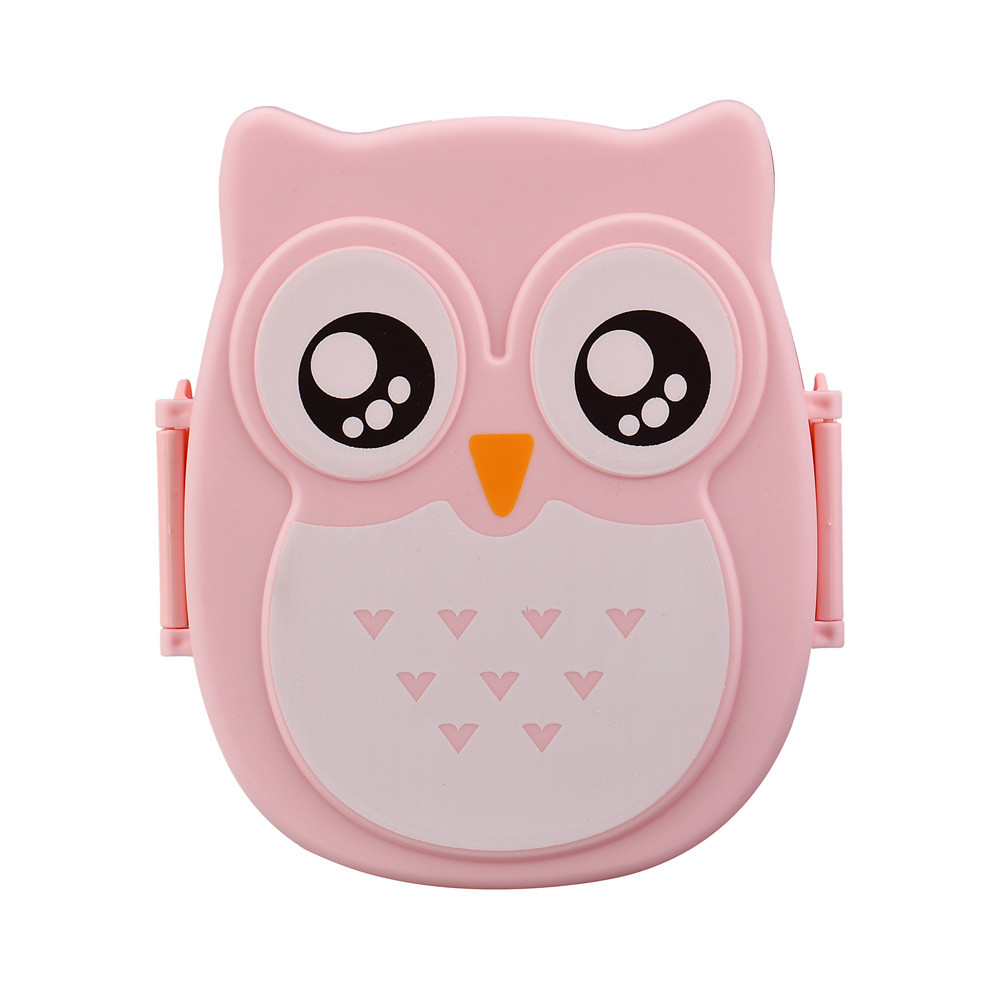 Food Containers Lunch Boxes Bento Food Contain Cute Cartoon Owl Plastic Storage Box Lunch Heating Oven For Children Kids Gift wallet