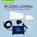 3g repetidor 2100 mhz reforço de sinal 3G WCDMA HSPA UMTS amplificador de sinal conjunto completo com Antena e cabo