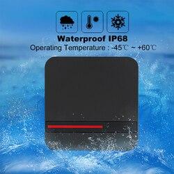 Długi zdalny czytnik rfid 125 KHz/13.56 MHz inteligentna karta zbliżeniowa czytnik System kontroli dostępu IP68 wodoodporny Weigand 26/34 czytnik