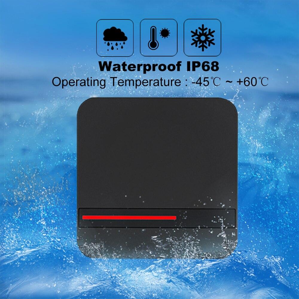 Leitor de cartão de proximidade inteligente do leitor 125 khz/13.56 mhz rfid da longa distância sistema de controle acesso ip68 impermeável weigand 26/34 leitor