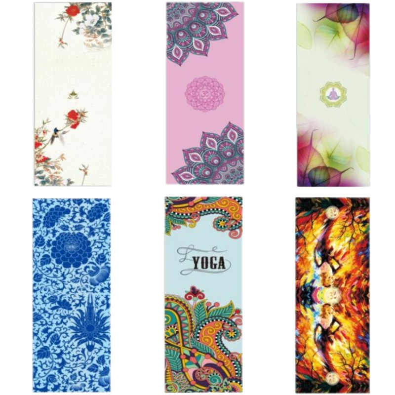 New 5mm Printed Yoga Mat Suede Natural Rubber Anti Slip Mat for Fitness Pilates Gymnastic Mat Can Be Customized Separately more longer new style 183cm 68cm 5mm natural rubber non slip tapete yoga gym mat lose weight exercise mat fitness yoga mat