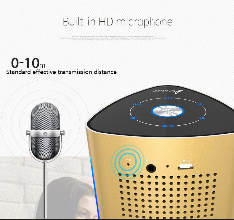 New ADIN V8 Vibration Speaker 36W Bluetooth Speakers Wireless Subwoofer NFC Stereo 3D Surround Touch Computer Phone Speaker (12)