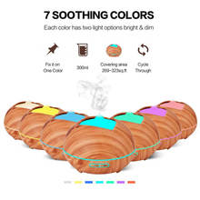 400ml Aroma Essential Oil Diffuser Ultrasonic Air Humidifier With Wood Grain 7 Color Changing LED Light Electric