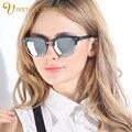 IVSTA Korean V Brand Sunglasses Women TR90 Fashion Polarized Lenses Blue Revo Sunglasses Mirror Half Rim Sunglasses cat eye 2015