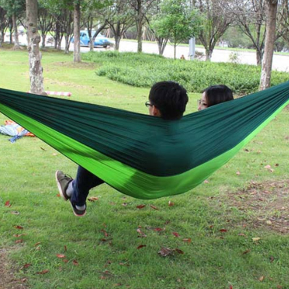 Sports & Entertainment Portable Parachute Nylon Fabric Two Persons Hammock Hanging Sleeping Bed Parachute Nylon Fabric Outdoor Camping Hammocks Sleeping Bags