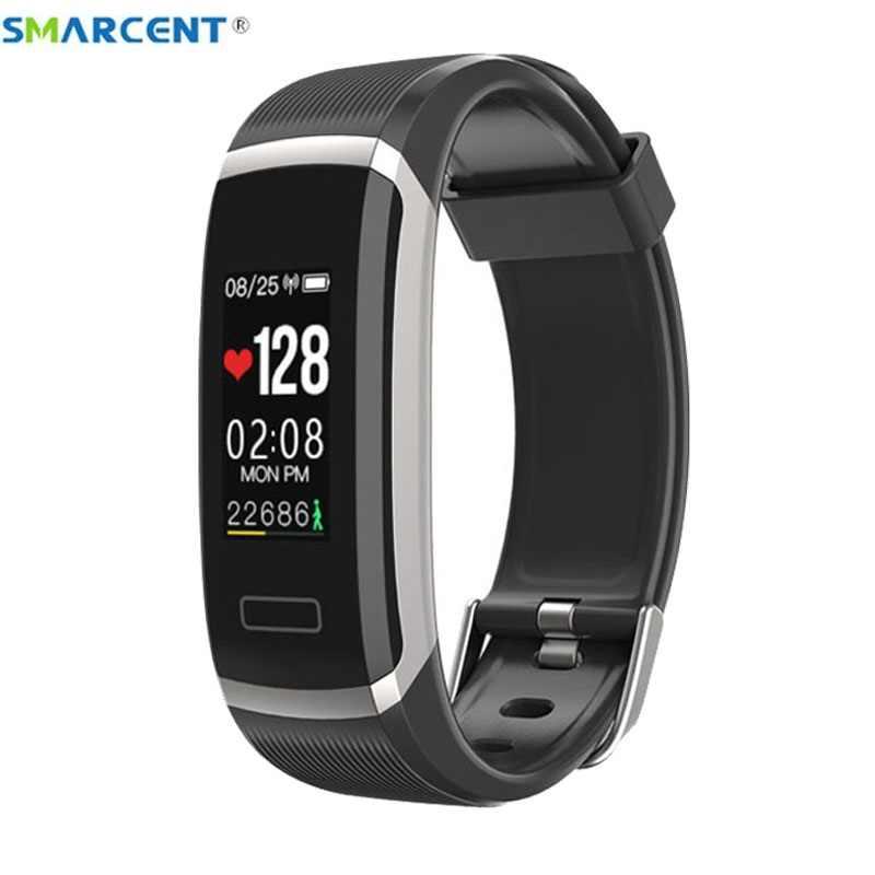 Smarcent GT101 Smart armband Farbe Bildschirm smartband Wasserdicht frauen männer sport Fitness Tracker heart rate monitor ip67