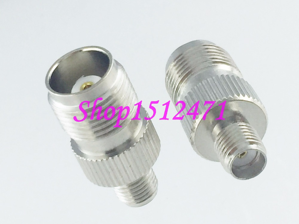 1pce TNC female jack to SMA female connector RF adapter Router Antenna Nickel1pce TNC female jack to SMA female connector RF adapter Router Antenna Nickel