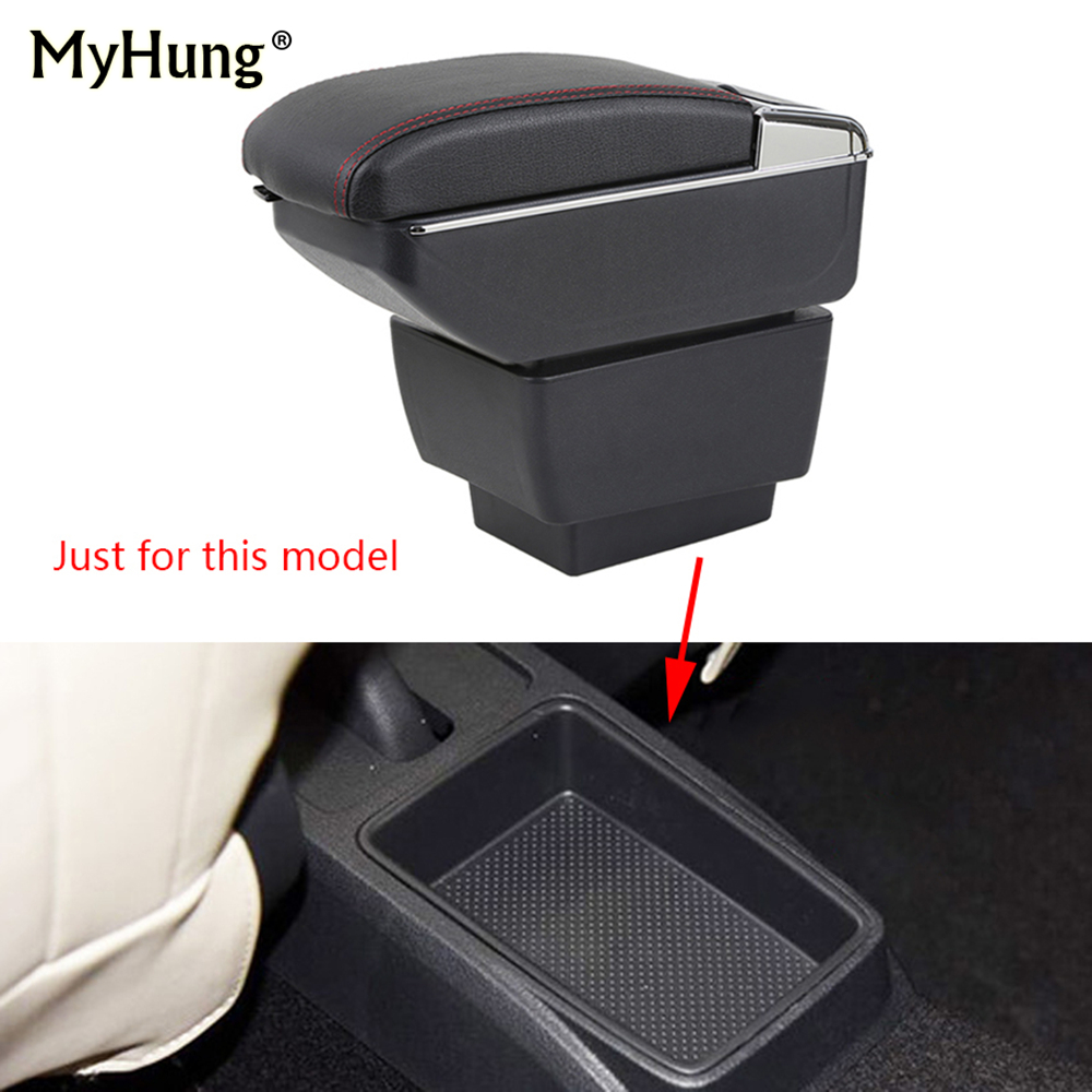 Armrest box For Skoda Fabia 2015-2017 Central Console Arm Store With Rise and Down Function content box cup holder ashtray Auto auto ashtray cup shaped shiny finish with hook
