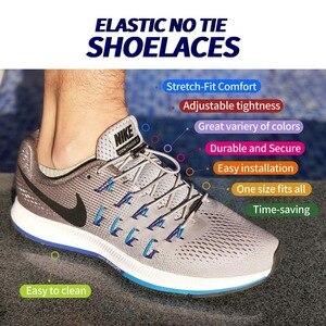 Image 2 - 1Pair Quick Shoelaces Elastic No Tie Shoe Laces Round Sneakers Shoelace Kids Adult Unisex Lazy Laces 18 Color Strings Metal Lock