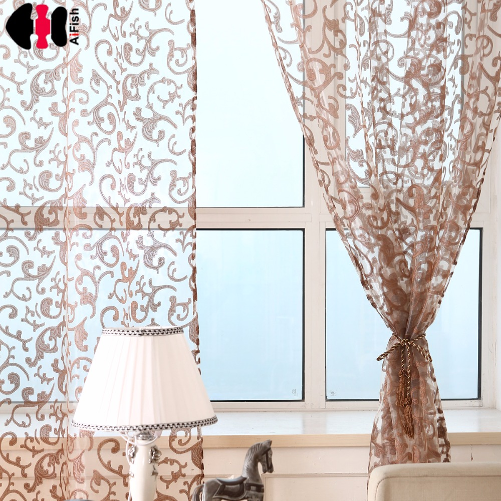 Curtain kitchen tulle for windows Printed Curtains Linen Tulle Window Treatment red the tulle window curtain WP173B