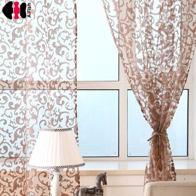 Rideau cuisine tulle pour fenêtres imprimé rideaux lin Tulle fenêtre ...