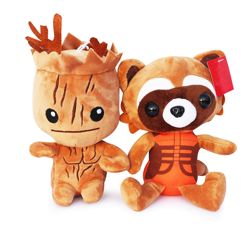 20cm Guardians Galaxy Tree Man People & Rocket Raccoon Stuffed Dolls Plush Toys Soft Doll For Children Gifts