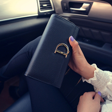 2016 New Women Wallets Brand High Quality Clutch Handbag PU Leather D Letter Large Capacity Purse Luxury Design  Card Holder