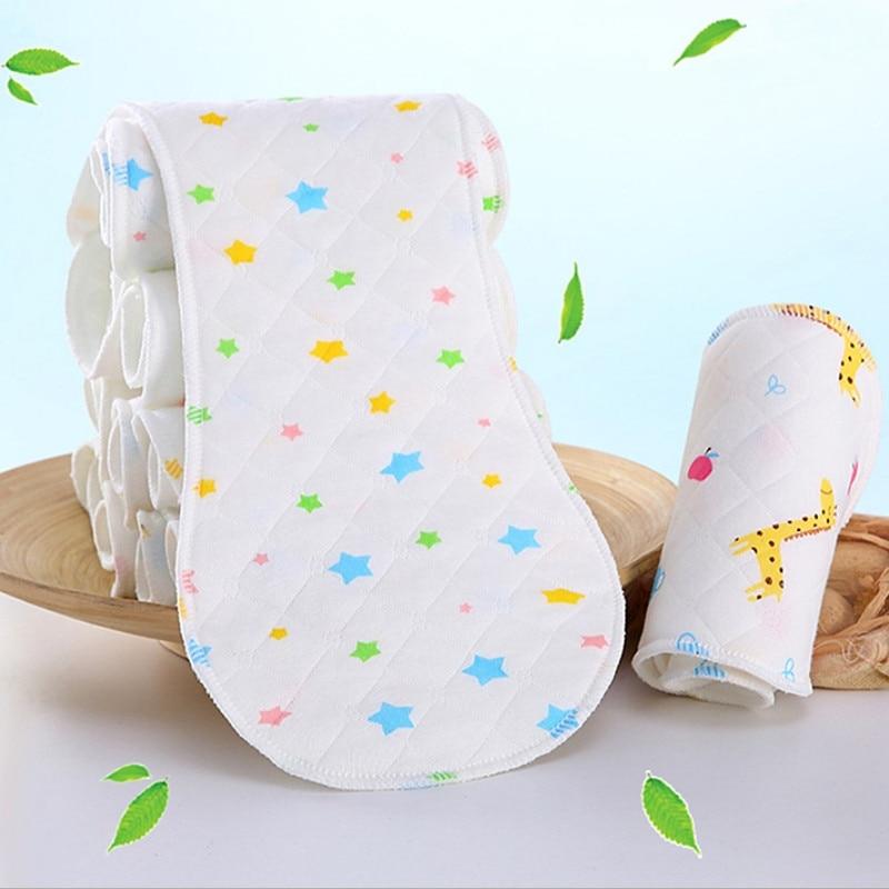 Windelwechseln Wiederverwendbare Baby Windel Tuch Windel Einsatz 1 Stück 3 Schicht Einsatz 100% Baumwolle Waschbar Baby Pflege Produkt 10 Stück Erdnuss Form Babypflege