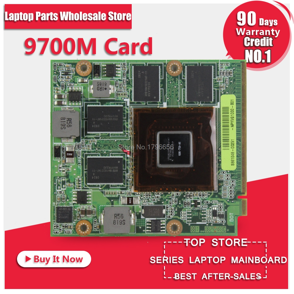 60-NPYVG1000 G50V 08G2015GV20I 08G2015GV20Q 9700M GT G96-750-A1 DDR3 512MB Video Card for ASUS M50 M50V G50V G50VT G71V free shipping 5pcs g96 309 a1 g96 600 a1 g96 630 a1 0 5mm in stock